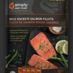 SIMPLY WEST COAST  SOCKEYE WILD Salmon Servings 340g