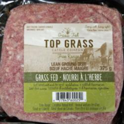 TOP GRASS Boeuf Haché Maigre Nourrit à l'Herbe 375g