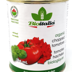 BIOITALIA Chopped Tomatoes Organic Basil 796ml