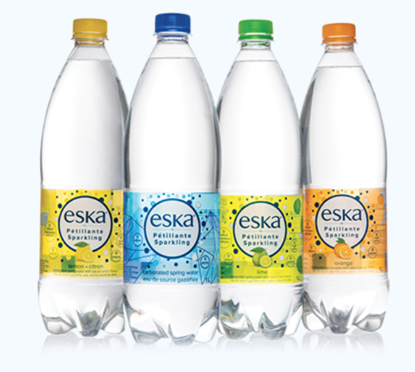 ESKA Eau Gazéifié 1L (4 saveurs)