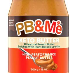 PB&ME KETO BUTTER Beurre d'Arachide à Haute Performance 500g