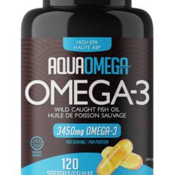 AQUAOMEGA Omega-3 Wild Fish Hule 3456mg per serving 120 capsules