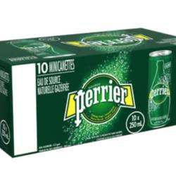PERRIER Eau Pétillante (3 saveurs) 10x250ml