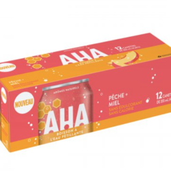 AHA Sparkling Water Drink 12 cans Peach and Honey