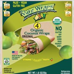 PURE WRAPS Coconut Wrap 50g