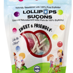 SWEET &  FRIENDLY Erythritol Sweetened Hickory Lollipops 250g