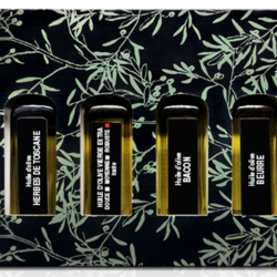 OLIVES & GOURMANDISES Discovery box 6 oils ( basil, butter, bacon, Spain, Tuscan herbs, blood orange ) 60ml