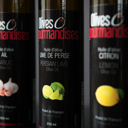 OLIVES ET GOURMANDISES Huiles d'Olive 250ml (plusieurs saveurs)
