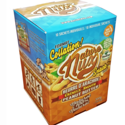 NATURE NUX Creamy Peanut Butter Snack Size 10x30g