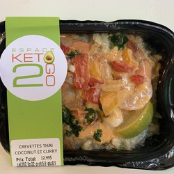 KETO 2 GO Thai shrimp coconut curry