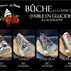 CRÉMERIE LA PLAINE Bûches glacées ( 4 saveurs )