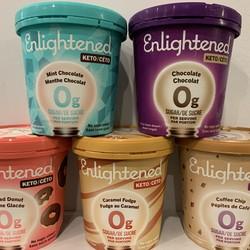 ENLIGHTENED Crème Glacé 0g de sucre 473ml (5 saveurs)