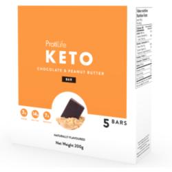 PROTILIFE KETO Barre Chocolat et Beurre d'Arachide (bte 5) 200g