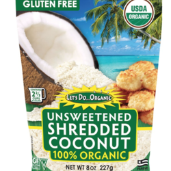 LET'S DO ORGANIC Grated coconut, unsweetened organic 250g