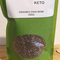DESTINATION KETO Graines chia noir 300g