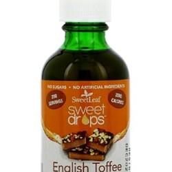 Sweet Drops  English toffee liquid stevia 60ml
