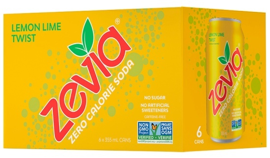 ZEVIA Eau pétillante aromatisée zéro calorie 355 ml (6)