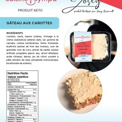 Josey Arsenault Dessert Carrot cake 350g