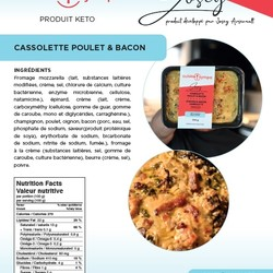 Josey Arsenault Repas Cassolette poulet bacon 350g