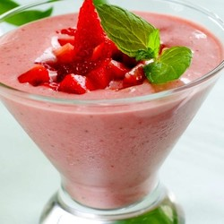 MISS MARIE  Strawberry and lime mousse