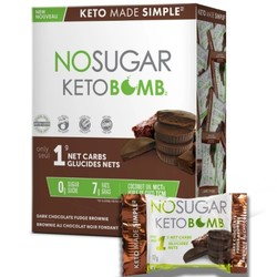 NO SUGAR Keto Bombs brownies 10x17g