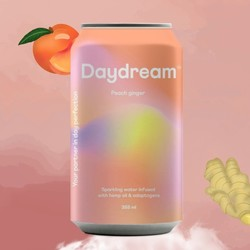 DAYDREAM Peach Ginger sparkling water infused  355ml