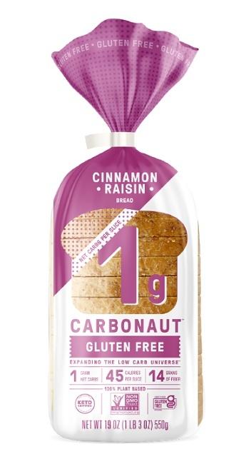 CARBONAUT Cinnamon raisin bread gluten free 550g