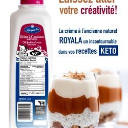 ROYALA Crème bio à l'ancienne 40% 1L