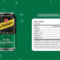 SCHWEPPES Soda gingembre (unité) 355ml