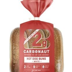 CARBONAUT Hot dog white buns (6) 300g