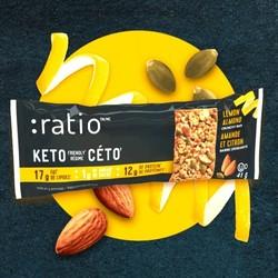 RATIO Barre craquante keto amande et citron 41g