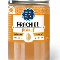 MILLE ET UNE NOIX Organic peanut butter 375g