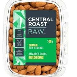 CENTRAL ROAST Organic raw almonds 300g