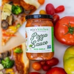 MIA'S KITCHEN Sauce à pizza basilic et ail 340ml