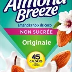 ALMOND BREEZE Lait d'amande originale non-sucré amande et coconut 946ml