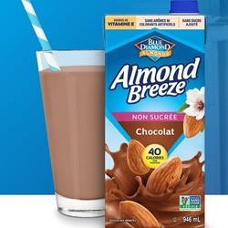 ALMOND BREEZE Unsweetened chocolate almond milk 946ml