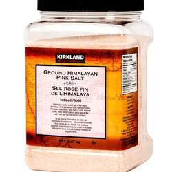 KIRKLAND Ground Himalayan pink salt iodized 2.27 kg