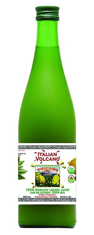 ITALIAN VOLCANO Organic lemon juice 500ml