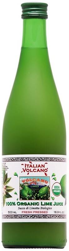 ITALIAN VOLCANO Organic lime juice 500ml
