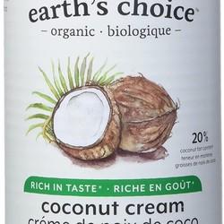 EARTH'S CHOICE Crème de noix de coco biologique 160ml