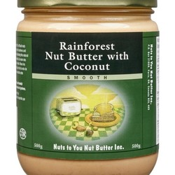NUTS TO YOU Rainforest nut butter with coconut 500g