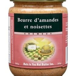 NUTS TO YOU Beurre d'amandes et noisettes crémeux 365g