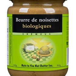 NUTS TO YOU Organic Hazelnut Butter Smooth 365g