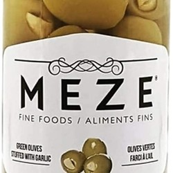 MEZE Green olives stuffed with garlic 375ml