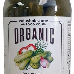 EAT WHOLESOME Organic dill pickles 750ml