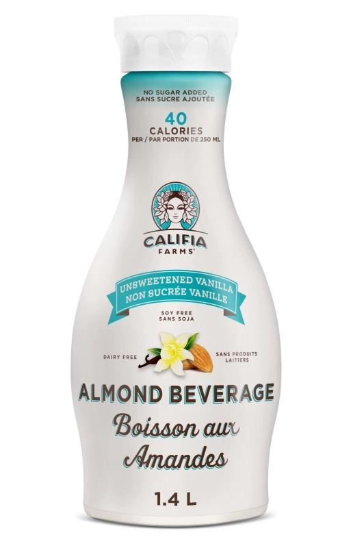 CALIFIA FARMS Almond beverage vanilla unsweetened 1.4L