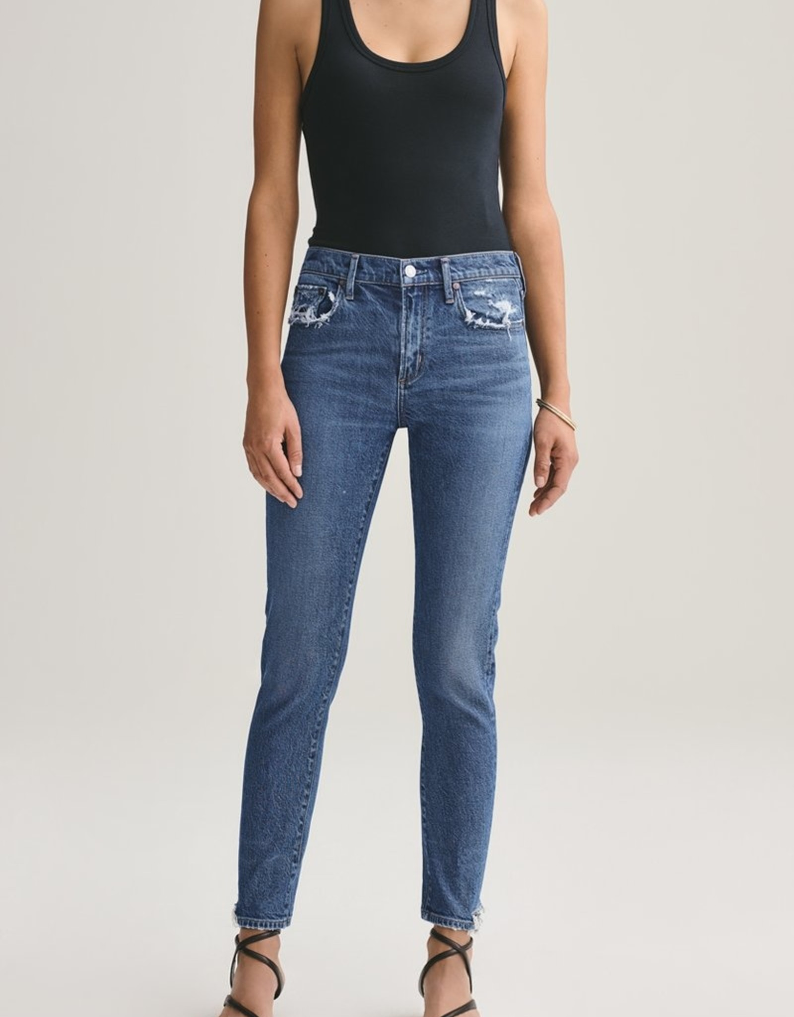 AGOLDE Toni Mid Rise Straight Fit