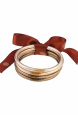 BuDha Girl All Weather Bangle (Set of 4) in Fawn