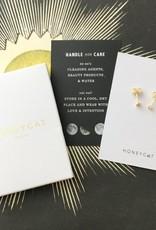 Mini Heart Crystal Stud Earrings Gold