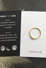 Mini Crystal Row Ring Gold